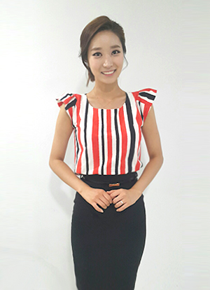 French Color Striped Blouse, Styleonme
