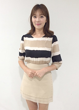 Feminine Striped Blouse, Styleonme