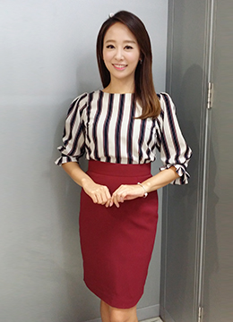 Coloring Striped Blouse, Styleonme
