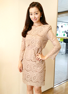 Elegant Wavy Laced Dress, Styleonme