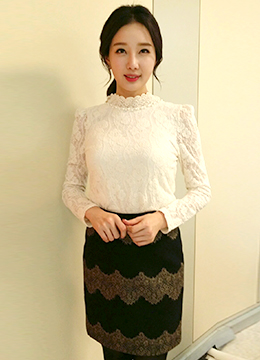 Amant Rose Lace Blouse, Styleonme