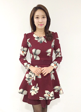 Big Flower Flare Dress, Styleonme