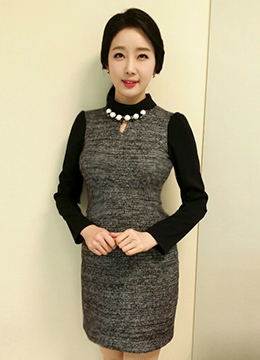 Necklace Turtle Collar Wool Dress, Styleonme