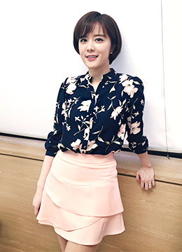 Elegant Watercolor Floral Blouse, Styleonme