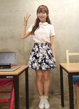 Floral Perfume Flare Skirt, Styleonme