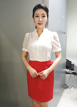 Floral Lace Mandarin Collar Short Sleeve Blouse, Styleonme