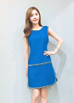 Line Detailed Distinctive Dress, Styleonme