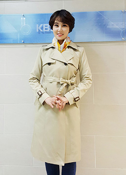 Classic Double-Breasted Belted Trench Coat, Styleonme