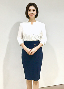 Modern High-Waisted Pencil Skirt, Styleonme