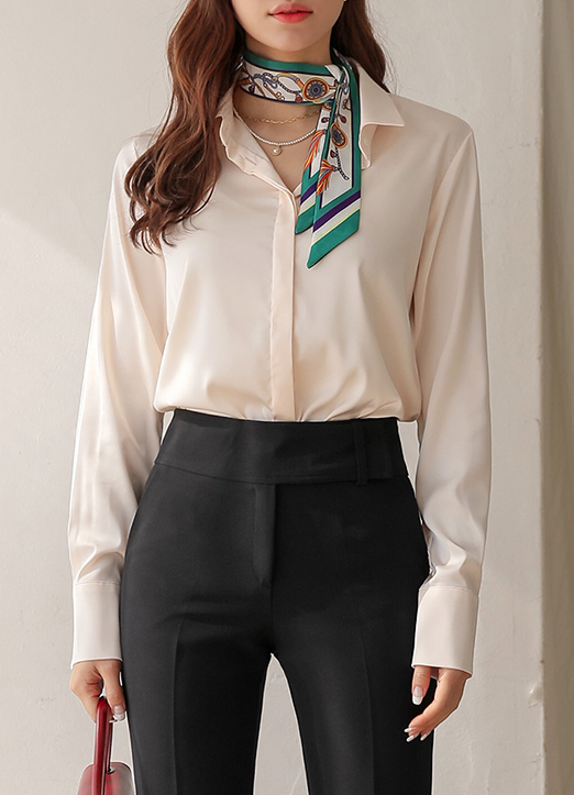 Silky Collard Blouse, 스타일온미