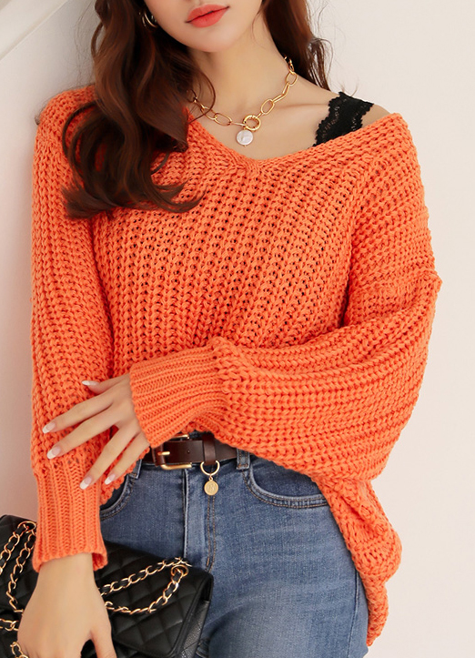 6Colors V-Neck Knit Sweater, 스타일온미