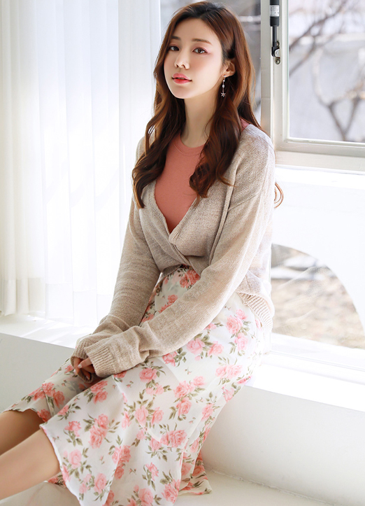 Lightweight Knit Camisole & Cardigan Set, 스타일온미