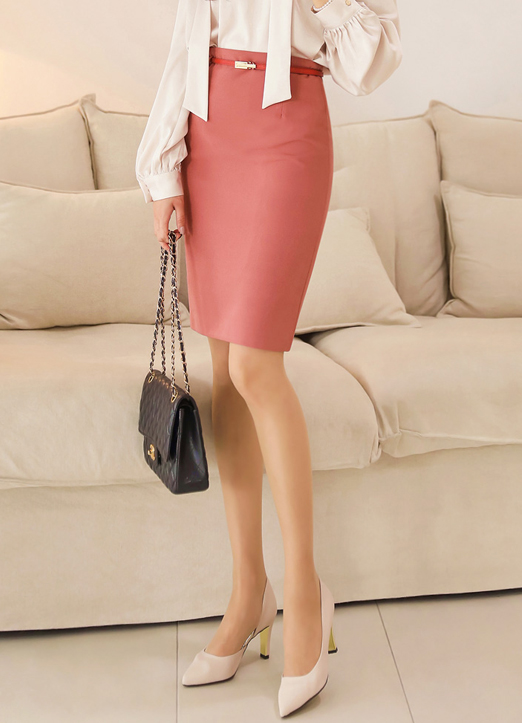 Midi Pencil Skirt with Belt , 스타일온미