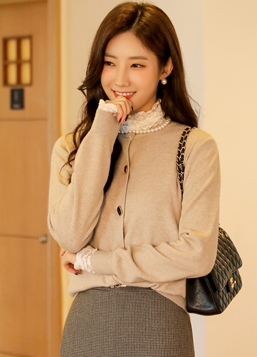 Soft Touch Cubic Button Cardigan, 스타일온미