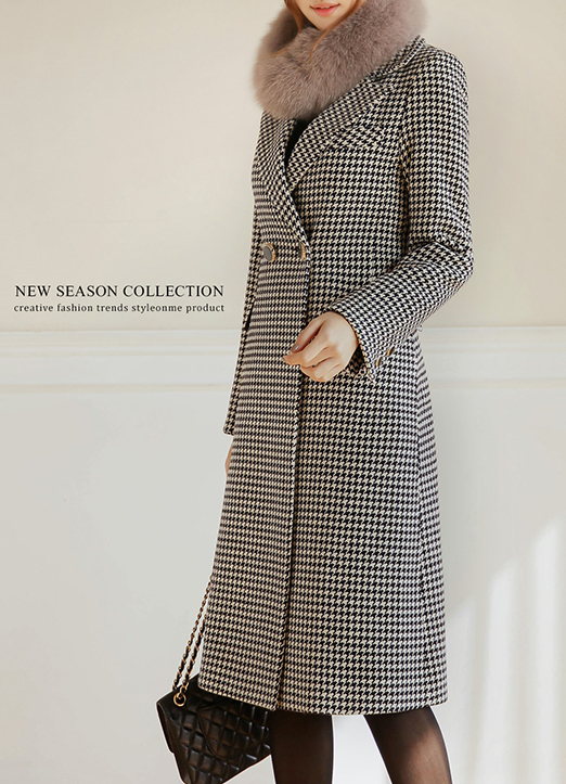 Sarah Hound Check Coat, 스타일온미