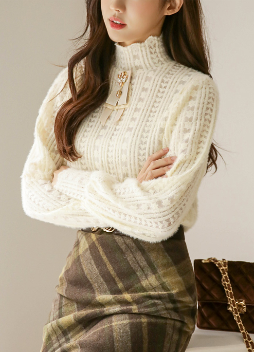 Heart Stripe Lace Blouse, 스타일온미