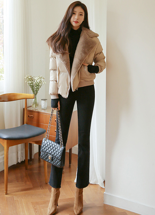 Lovely Eco Fur Lined Padded Jacket, 스타일온미