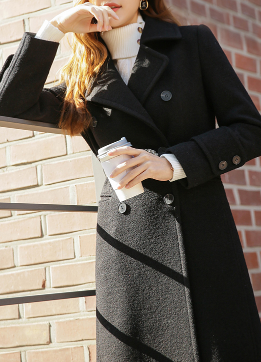 50Wool mix Belted Long Coat, 스타일온미