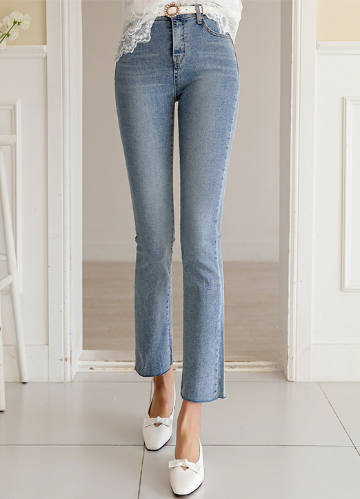 Mid rise Light Blue Bootcut Jeans, 스타일온미
