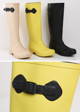 Side Ribbon Rain Boots, Styleonme