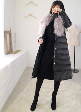 Soft Fur Down Padded Coat, Styleonme