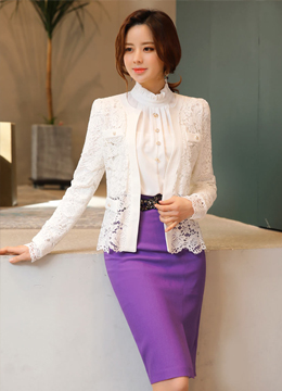 Feminine Floral Lace Pearl Cardigan, Styleonme