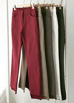 Step Hem Stretchy Skinny Pants, Styleonme