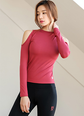 Cold Shoulder Slim Fit Top, Styleonme