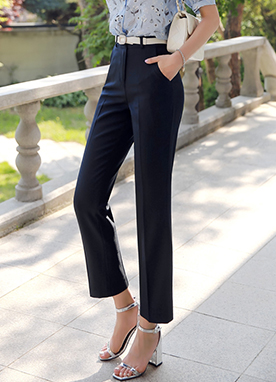 Dailywear Slim Ankle-length Slacks, Styleonme