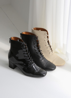 Lace-Up Ankle Boots, Styleonme