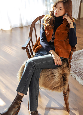 Mini Faux Fur Vest, Styleonme