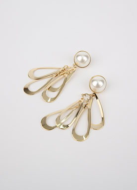 Pearl Gold Teardrop Earrings, Styleonme