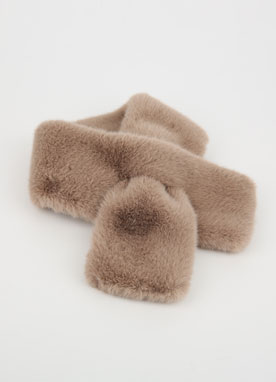 8Colors Faux Mink Fur Muffler, Styleonme