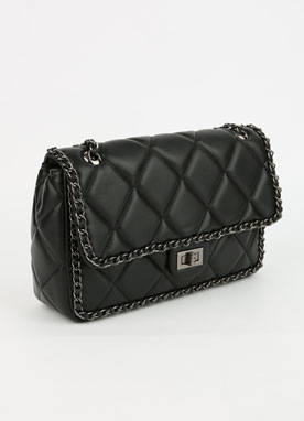 Chic Chained Quilted Bag, Styleonme