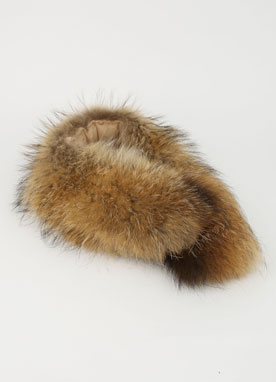 Brown Raccoon Fur Muffler, Styleonme