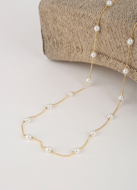 Muse Long Pearl Necklace, Styleonme