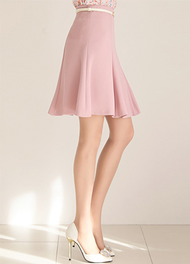 High-Waisted Flared Skirt, Styleonme