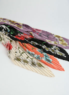 Floral Print Pleated Scarf, Styleonme