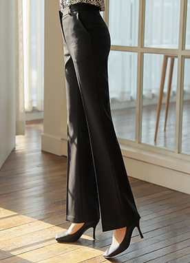 Chic Slim Line Boot-Cut Slacks, Styleonme