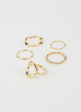 5Layered Rings Set, Styleonme