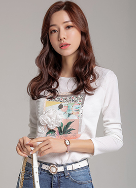 Spring Mix Flower Corsage T-Shirt, Styleonme