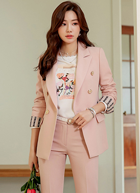 Best Fit Collection Double-Breasted Tailored Jacket, Styleonme