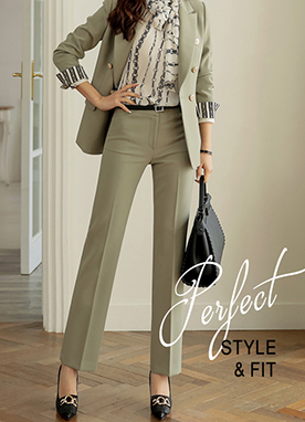 Best Fit Collection Straight Leg Slacks, Styleonme