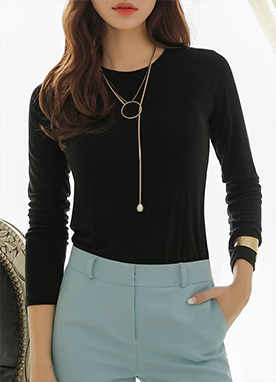 Soft Round Neck T-Shirt, Styleonme