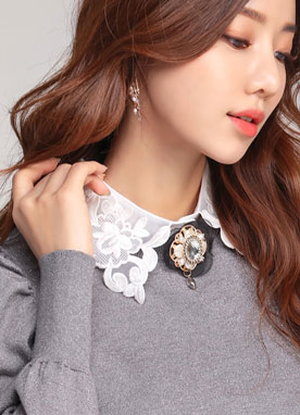Floral Lace Collar, Styleonme