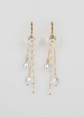 Spring Blossom Pearl Drop Earrings, Styleonme