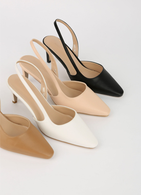Simple Slingback Heels, Styleonme