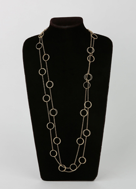 Gold Circle Layered Necklace, Styleonme