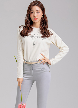 Simplicity Long Sleeve T-Shirt, Styleonme