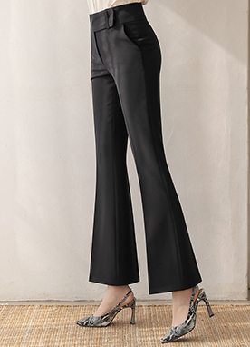 Modern High-Waisted Boot-Cut Slacks, Styleonme